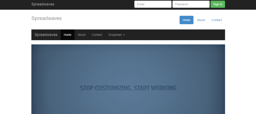 Free Twitter Bootstrap HTML Template & Themes | spreadwaves