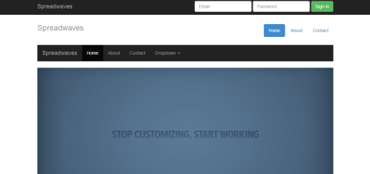 Twitter Bootstrap Html Template & Theme