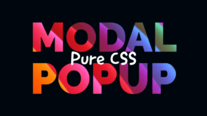 Pure CSS Overlay Message Popup Modal Box