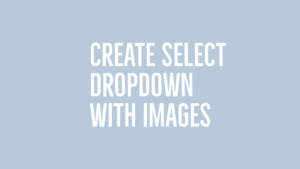 Customize Select dropdown with images using list (ul)